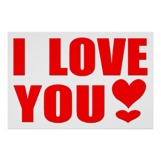 I Love You with a Heart Exclamation Point Poster