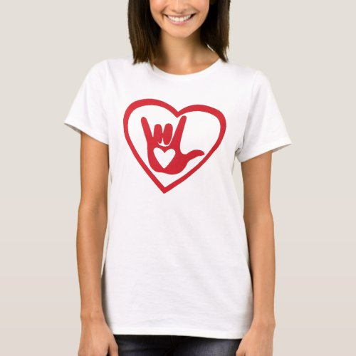 I love you with all my heart in ASL T_Shirt
