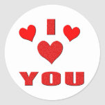 I Love You With All My Heart Stickers