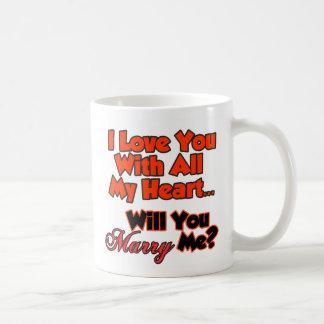 I love you with all of my heart coffee mug