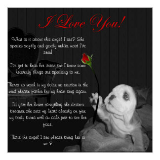 I Love You with Poem Poster