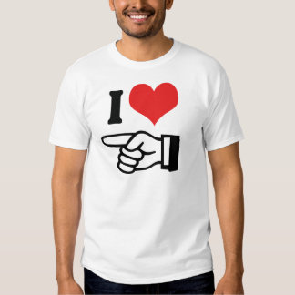 I Love You - with Pointing Finger Shirt
