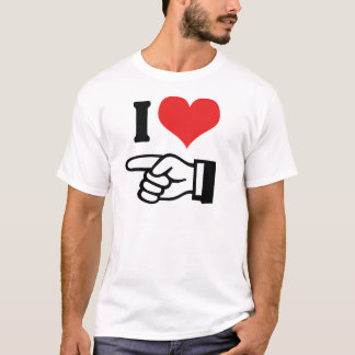 I Love You - with Pointing Finger T-Shirt