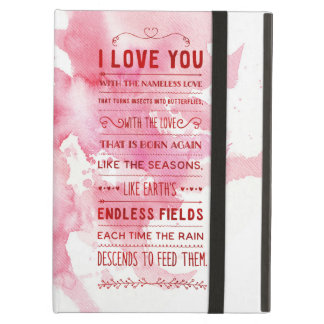 """""""I Love You With The Nameless Love…"""" Funky Chic iPad Air Cover"""