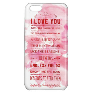 """""""I Love You With The Nameless Love…"""" Funky Chic iPhone 5C Cases"""