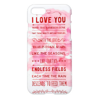 """""""I Love You With The Nameless Love…"""" Funky Chic iPhone 7 Case"""