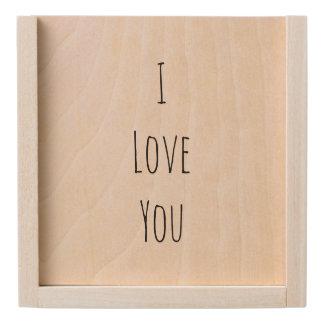 I Love You Wooden Keepsake Box