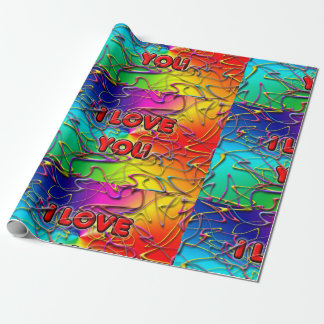 'I Love You' Wrapping Paper