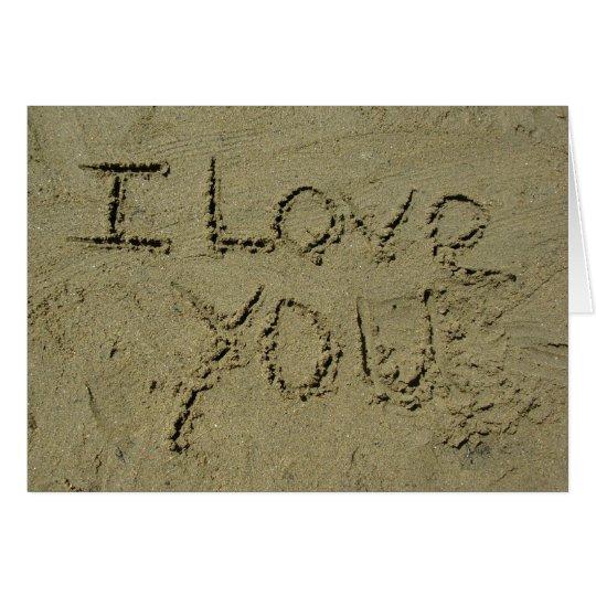 I Love You Written In Sand Card