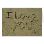 I Love You Written In Sand Cards