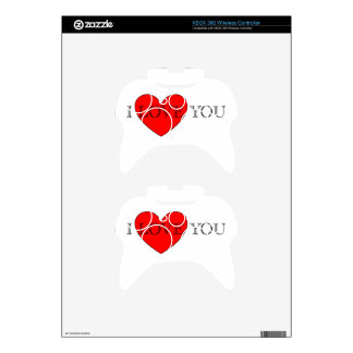 I LOVE YOU XBOX 360 CONTROLLER SKIN