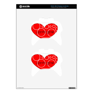 I LOVE YOU XBOX 360 CONTROLLER SKINS