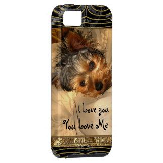 I Love You Yorkie Monogram iPhone SE/5/5s Case