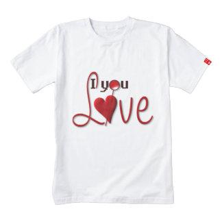 I Love You Zazzle HEART T-Shirt