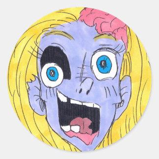 I Love You Zombie Classic Round Sticker