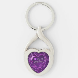 I Love Younique Twisted Heart Keychain