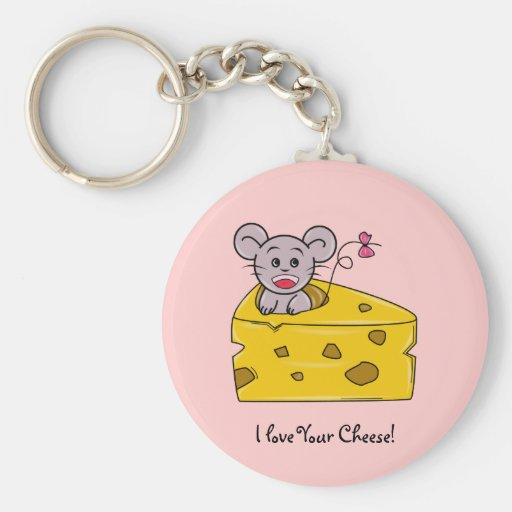 I love your Cheese Basic Round Button Keychain