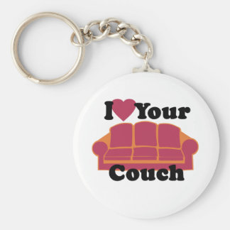 I Love Your Couch Basic Round Button Keychain