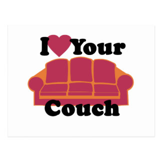 I Love Your Couch Postcard