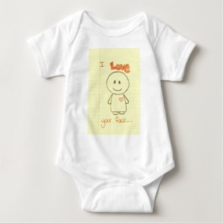 I love your Face Baby Bodysuit