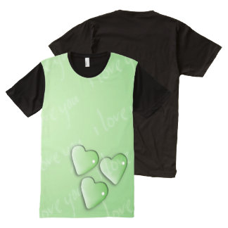 I Love Your Green All-Over-Print T-Shirt