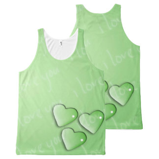 I Love Your Green All-Over-Print Tank Top