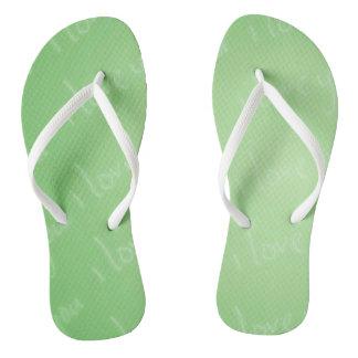I Love Your Green Flip Flops