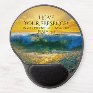 I Love Your Presence, Psalm 16:11 Ocean Sunset Gel Mouse Pad