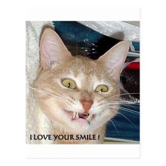 I LOVE YOUR SMILE POSTCARD
