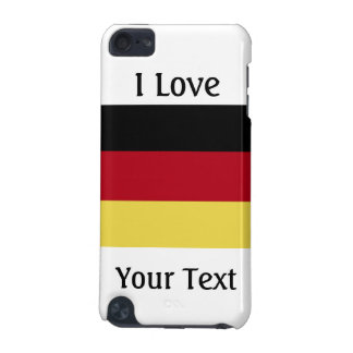 """I Love """"your text here""""-German Flag iPod Touch (5th Generation) Cover"""