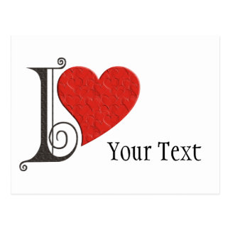 I LOVE ... your text Postcard