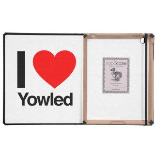 i love yowled iPad covers