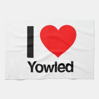 i love yowled kitchen towel