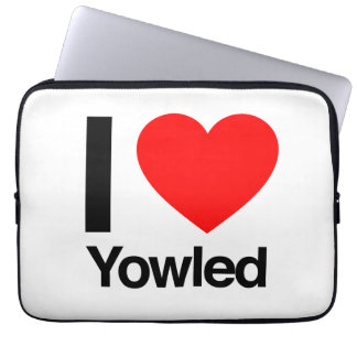 i love yowled laptop computer sleeve