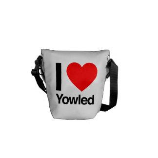 i love yowled messenger bag