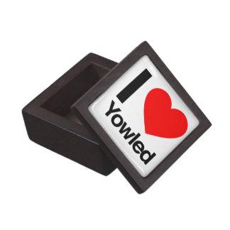 i love yowled premium keepsake box