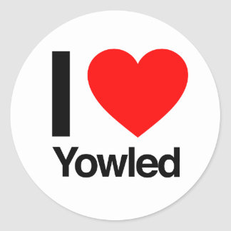 i love yowled sticker
