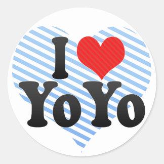I Love YoYo Classic Round Sticker