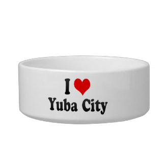 I Love Yuba City, United States Cat Water Bowl