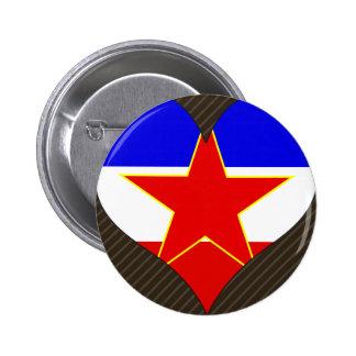 I Love Yugoslavia Button