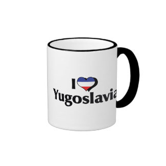I Love Yugoslavia Flag Ringer Mug
