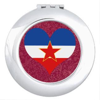 I Love Yugoslavia Mirror For Makeup