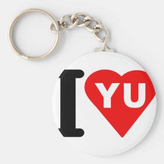 i_love_Yugoslavia.png Basic Round Button Keychain