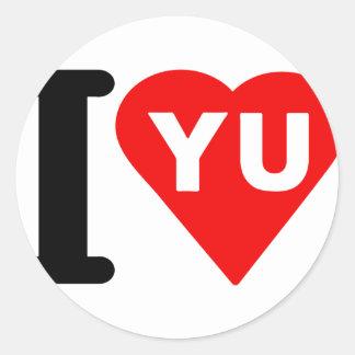 i_love_Yugoslavia.png Classic Round Sticker