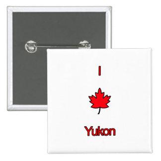 I Love Yukon 2 Inch Square Button