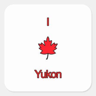 I Love Yukon Square Sticker