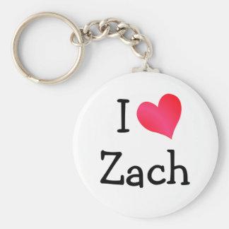I Love Zach Key Chains