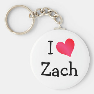 I Love Zach Keychain