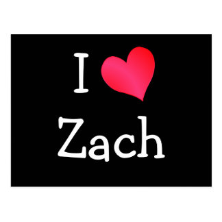 I Love Zach Postcard