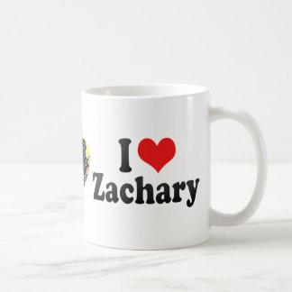 I Love Zachary Coffee Mugs
